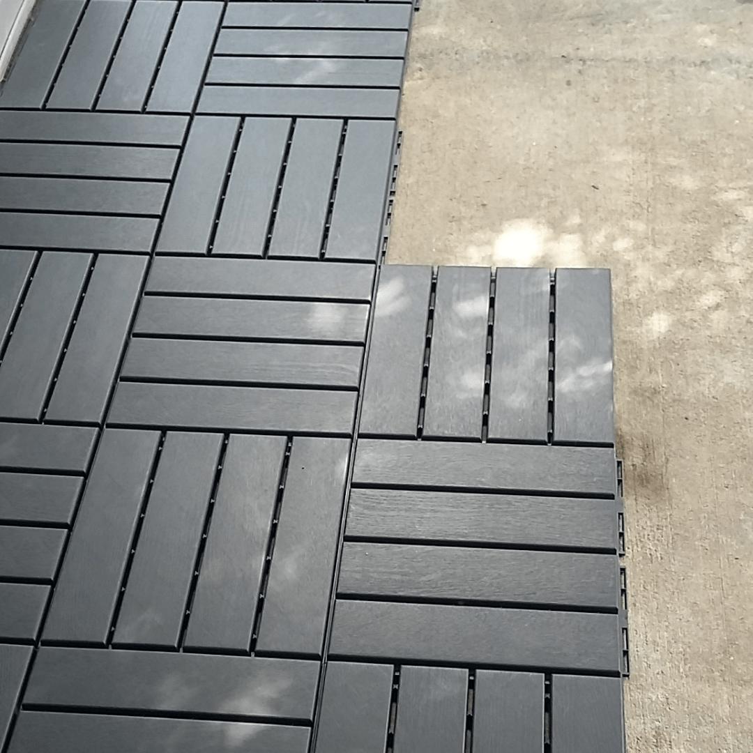 I Laid Outdoor Flooring Tiles Like A Boss D.I.Y. Ikea Tiles