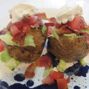 BLT Baked Potato Recipe in Air Fryer Oven