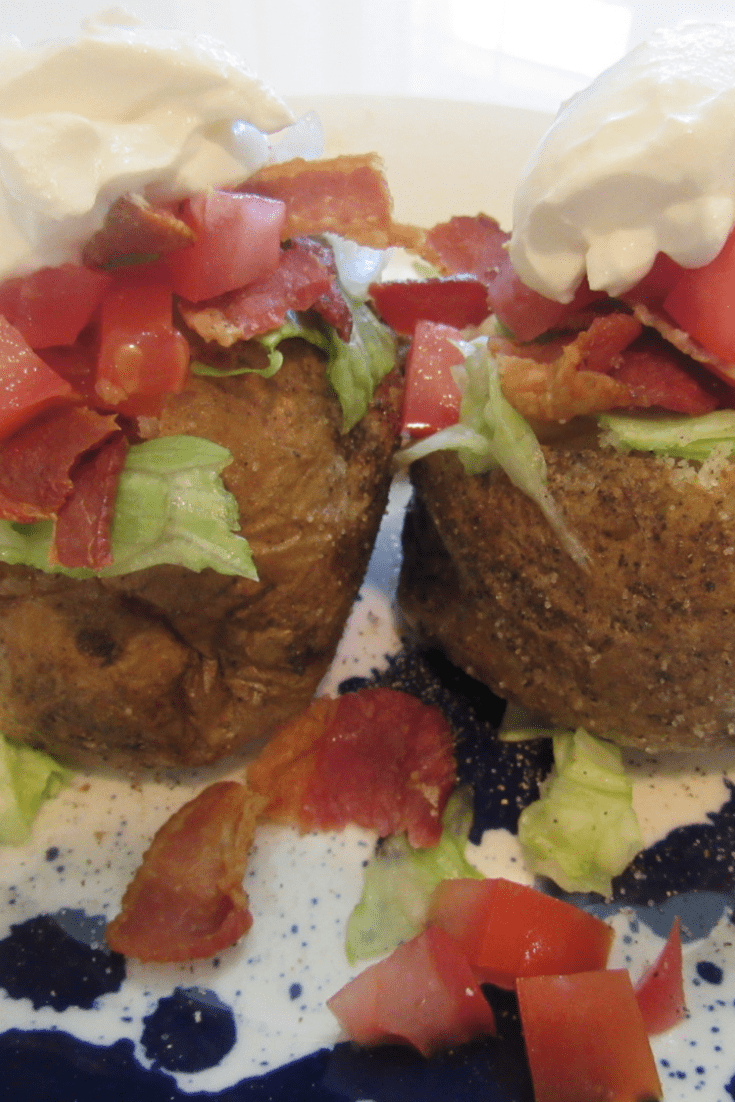 BLT Baked Potato Recipe in Air Fryer Oven
