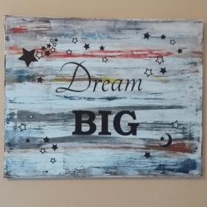Easy D.I.Y. Canvas Wall Art Using Oil Paints and Acrylic Paints
